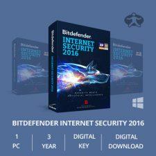 Bitdefender Internet Security 2016 (1 PC,3 Yr) – Digital Key & Download