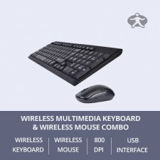 Wireless Multimedia Keyboard & Optical Mouse