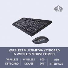 Wireless Multimedia Keyboard & Optical Mouse